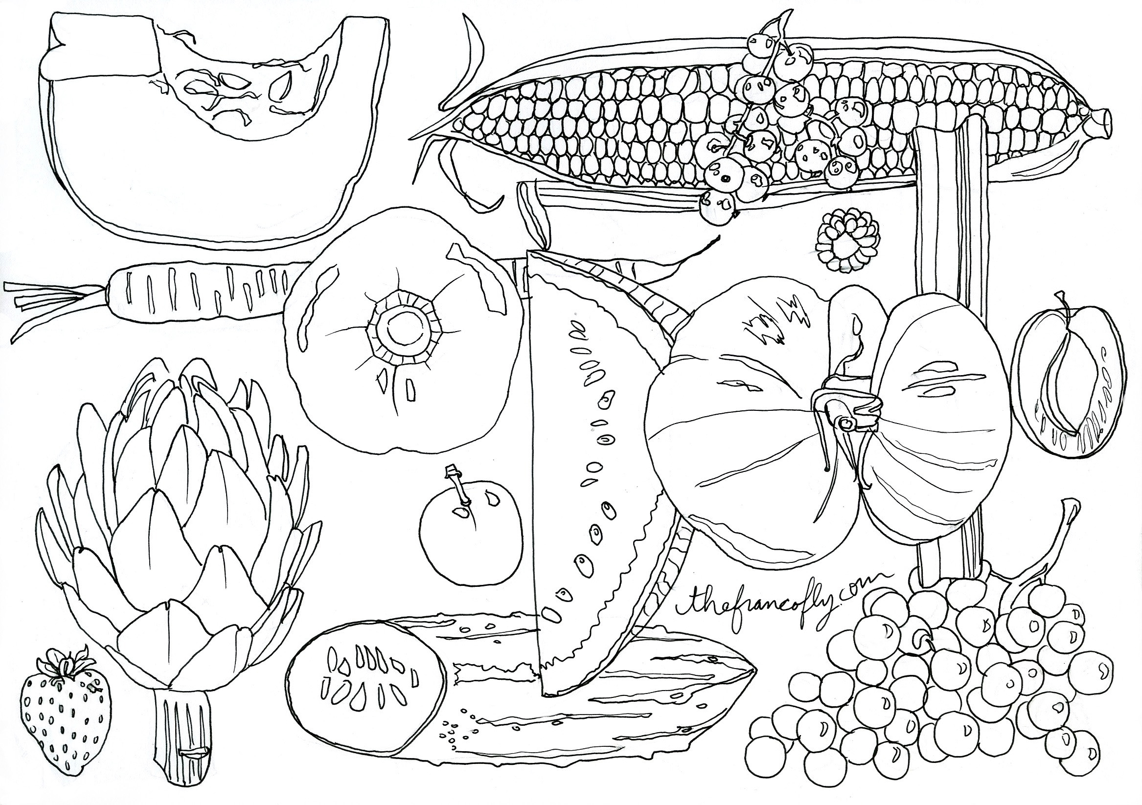September color me seasonal thefrancofly for September coloring pages